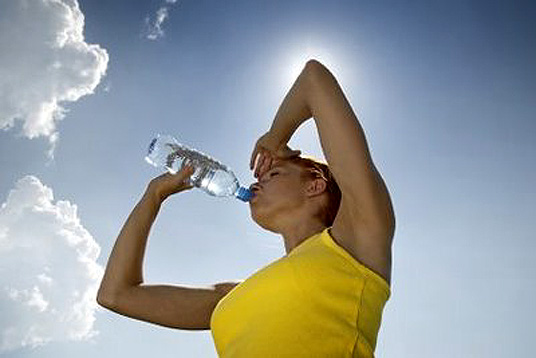 water during a run